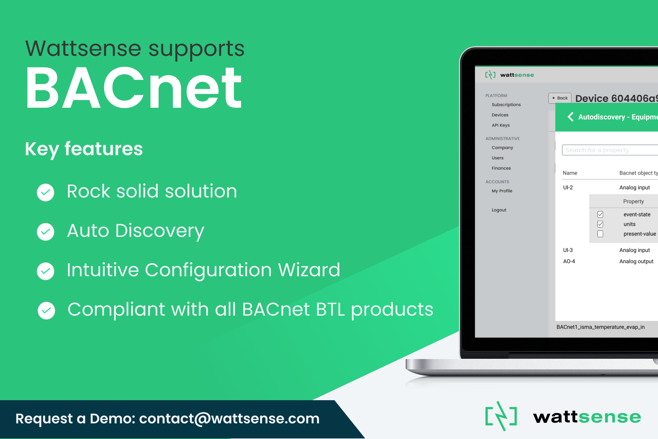 Breaking news: Wattsense supports BACnet