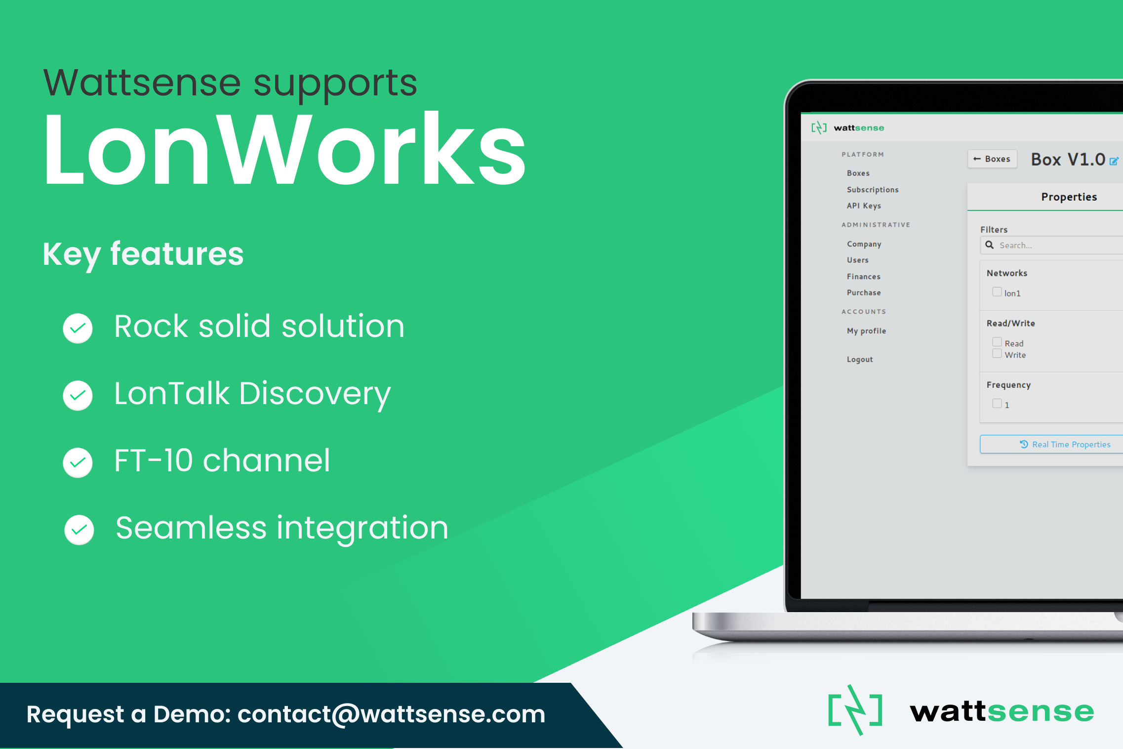 Easily connect to LonWorks using the Wattsense service